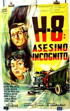 H-8 (1958) Foreign Movies, Croatia, Cinema, Comic Books, Comics, Film, World, Movie Posters, Assassin