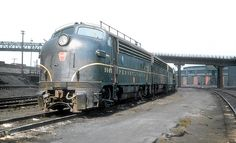 Pennsylvania Railroad EMD F3A, class EF15, a 1,500 HP diesel electric locomotive # 9543, is seen at the railroad's facility in East Altoona, Pennsylvania September 16, 1955, John Dziobko Jr. Photo