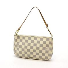 Louis Vuitton Pochette Accessoires Damier Azur Small bags White Canvas N51986