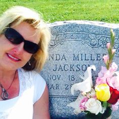 Ignore the red nose and blotchy neck. Can't help but cry when visiting mom's grave.