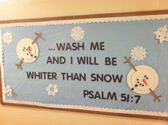 church bulletin boards | Winter snow man church bulletin board