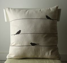 ackkkk I love the birds on a wire. Some days I feel just like that. I could snuggle with this pillow on those days