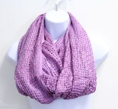 New-With-Flaws-BCBGeneration-Womens-Lavender-Woven-Loop-Scarf-M5003-D