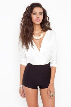 Nasty Gal High Waist Hot Shorts - Black in Black | Lyst