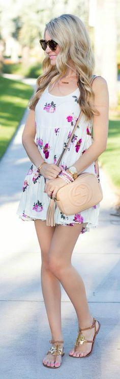 Little Floral Dress Summer Style