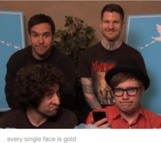 Their. Faces. <3 <<<yet another reason they're the best.<<<the question was 'is Pete Wentz still a twat', to which everyone said yes. XD