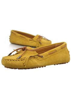 Yellow Tassels Flat Shoes