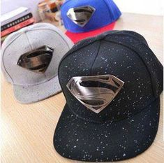 High Quality Gorras Men Women Both Use Casual Baseball Cap Iron Supermen  Badge Cool Snapback Caps Adjustable Size Hat 475363b4130a