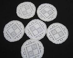 Risultati immagini per centrino di cotone ecrù