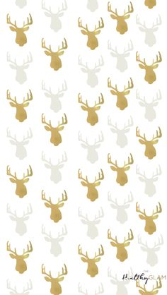 gold reindeers christmas iphone wallpaper