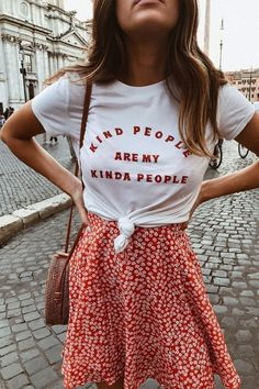 Kind People are My Kinda People Shirt that Gives Back to Charity by ROX – Purely Positive Collection Spring outfits - Summer outfits - fashion outfits - casual fashion Mode Outfits, Trendy Outfits, Fashion Outfits, Womens Fashion, Fashion Ideas, Best Outfits, Dress Fashion, Fashion Sandals, Simple Outfits