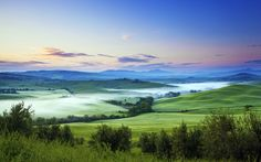 River of fog at dawn, Val d'Orcia, Tuscany, #Italy.