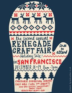Renegade Craft Fair poster by Kate Sutton. In LOVE with this design.