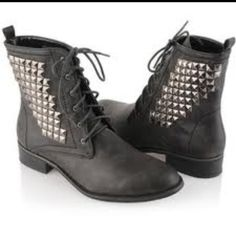 Studed boots