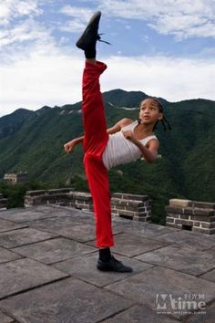 learn martial arts... The kids gotta be double jointed ;0) Adorable young man n Cute movie too
