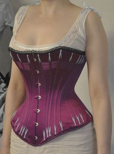 Before the Automobile: 1880s corset and a chemise with ball gown neckline