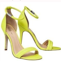 Prabal Gurung Target Neon Lime Green Heel Sandal