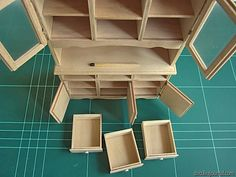 Miniature tutorial ~ dollhouse sized  buffet
