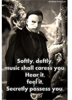 quotes and poams about the phantom of the opera - Google Search