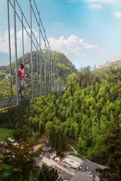 highline179 - This suspension bridge runs over a deep valley to the ruins of Ehrenberg castleand Fort Claudia on a hilltop. Vertigo inducing and supposedly awesome! --- 4 hrs (just over the Austrian border) ---