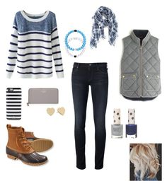 """""""Untitled #24"""" by sk8gr8 on Polyvore featuring Mother, Chicnova Fashion, J.Crew, Madewell, Kate Spade, Everest, L.L.Bean and Topshop"""