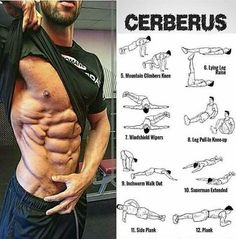the best abs and cerberus exercices #bodybuilding #fitness #diet #healthyeating #workout