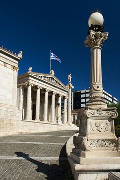 The Academy of Athens is Greece's national academy and the highest research establishment in the country. It was established in 1926 and operates under the supervision of the Ministry of Education. The Academy's main building is one of the major landmarks of Athens. #Greece #kitsakis