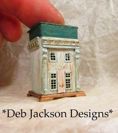 From *DJD* Tiny 1 tall,aged,French style toy house,furnished. French Style Homes, Toy House, Micro House, Putz Houses, Glitter Houses, Doll Shop, Miniature Houses, Etsy, Outdoor Decor