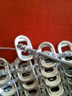 crochet and pop tab purse | Pull Tab (Soda Tab) Crochet | generationcrochet by renee