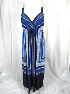 Inc. International Concepts Exotic Navy Blue Paisley Maxi Dress 2X NWT $99.50 #INCInternationalConcepts #Maxi #Casual