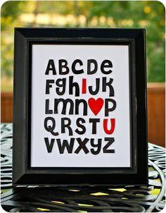 I Love You - 24 Cute and Easy DIY Valentine's Day Gift Ideas www.genesisdiamon... #valentinesdaywedding #valentinesday #wedding