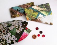 Recycled magazine envelopes for vintage buttons in my Surprise Craft Coffers #ecocreatehour http://www.littleconkers.co.uk/craftcoffers