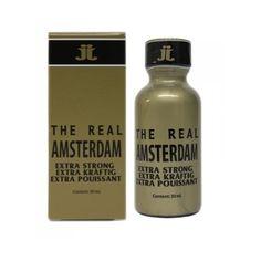 Poppers The Real Amsterdam Extra Strong, une référence en Europe et très apprécié des adeptes de sensations fortes.