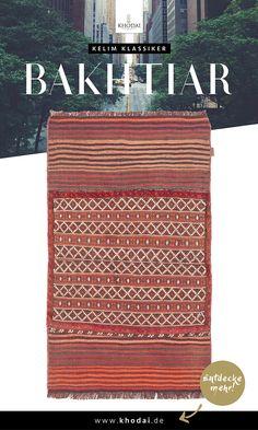 Kelim Teppich Bakhtiar - Klassischer Webteppich im Nomadenstil von KHODAI - Handmade Carpets