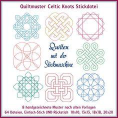Quilt Muster Celtic Knots Stickdatei http://www.rock-queen.de/epages/78332820.sf/de_DE/?ObjectPath=/Shops/78332820/Products/2231