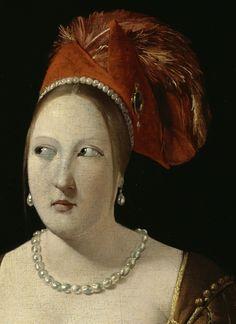 Georges de La Tour: Le Tricheur à l'as de carreau (detail).
