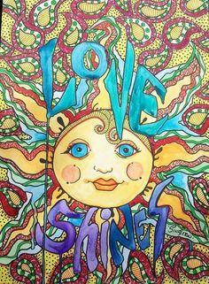 ☮ American Hippie Art ☮ Sun .. Singleton -  Love Shines