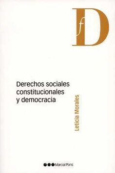 Derechos sociales constitucionales y democracia / Leticia Morales ; prólogo de Roberto Gargarella
