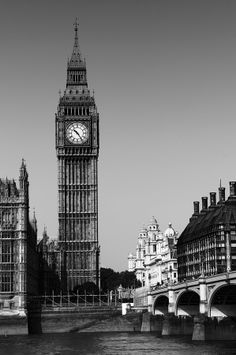Big Ben by Nicu Gherasim on Big Ben London, Houses Of Parliament, Nicu, Westminster, Black And White, Building, Winter, Travel, Winter Time