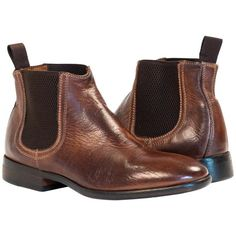 Kendra Dip Dyed Brown Chelsea Boots from PaoloShoes.com