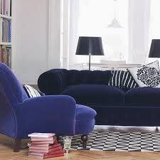 Image result for blue and white living room designs