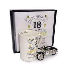 Album 18 ani, cana si motocicleta cu ceas It's Your Birthday, Mugs, Tableware, Happy, Blog, Album, Dinnerware, Tablewares, Ser Feliz