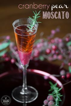 This refreshing and delicious Cranberry Pear Moscato is the quintessential cocktail this holiday season. {Self Proclaimed Foodie}