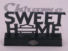 Harley Davidson Plaque Chrome Sweet Home