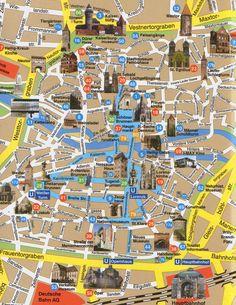 Nuremberg Germany City Map