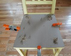 How to make a chair. Add Upholstered Cushions To Chairs - Step 2