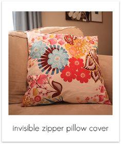 Invisible Zipper CushionTutorials