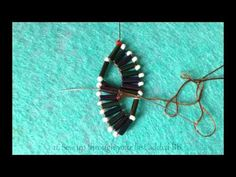 double wave bugle bracelet with beaded clasp - YouTube