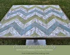 chevron wood table top