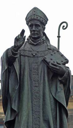 Josef Václav Myslbek - St.Adalbert of Prague (sv.Vojtěch) as a part of St.Wenceslas (Václav) equestrian statue - a sculptural group of Czech saint patrons at Wenceslas Square